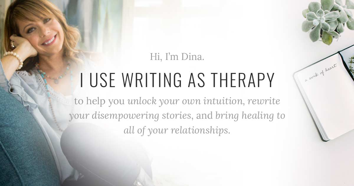 i use writing as therapy to help you unlock your own intuition, rewrite your disempowering stories, and bring healing to all of your relationships.